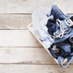 Indret flot med nødvendige items