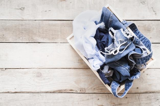 kurv til vasketøj