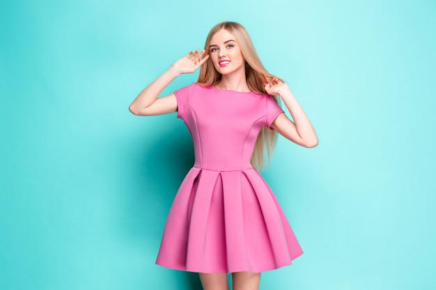 pink kjole